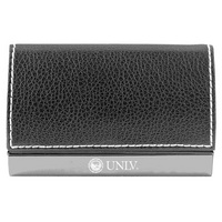 Leather Accent Business Card Holder