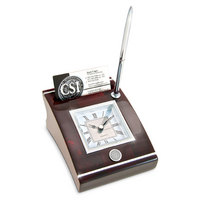 Desk Clock Business Card Holder (Online Only)