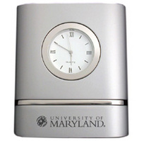 University of Maryland Two Tone Desk Clock