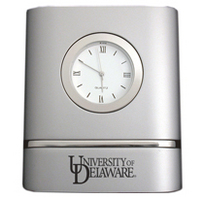 Delaware Blue Hens Two Tone Desk Clock