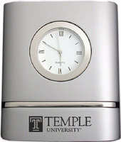Temple Two Tone Desk Clock