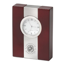 University of Maryland Wood and Metal Desk Clock
