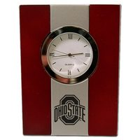 Ohio State Buckeyes Wood and Metal Desk Clock