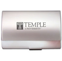 Temple Pocket Size Business Card Holder