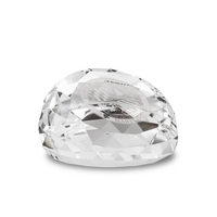 Slant Top Crystal Faceted Paperweight
