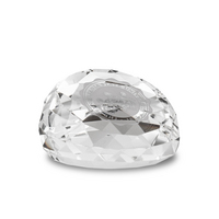 Slant Top Crystal Faced Paperweight