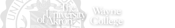 Wayne College of the University of Akron Logo