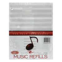 Roaring Springs Music Filler 8.5 in. x 11 in. 12 Stave 20 Count