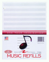 Music Filler Paper White