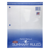 Roaring Spring Summary Filler Paper, 3hole punched, 11 x 8.5
