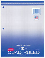 Graph Filler Paper 5 X 5 Quad Ruling 20 Sheet 11 X 8 12