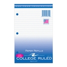 FILLER PAPER COLLEGE RULED 8.5x5.5 100ct