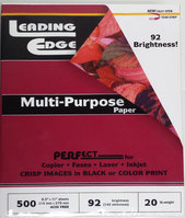 Leading Edge Multi Purpose Office Paper 8.5x11 500 Sheets