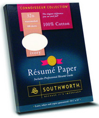 Southworth Resume Paper 100 Sheets 32 Ivory Paper 8 12 X 11