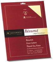 Resume Kit 20 Shts 25% Cotton W Career Guide