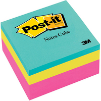 3M Postit 3 x 3 Notes Cube, Pink Wave, 400 SheetsCube