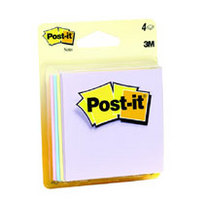 Paper Post It 3x3 Multi Clear 4 PK