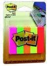 PostIt Page Markers Fluorescent Colors 12 in x 2 in 5 Pack