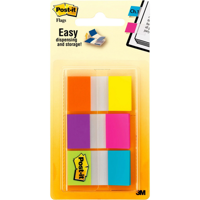 3M Postit Flags, Alternating Colors, .94 in. Wide, 60OntheGo Dispenser