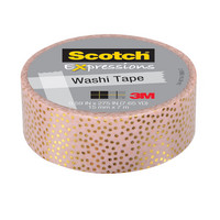 WASHI TAPE Pink Gold FOIL .59IN X 275