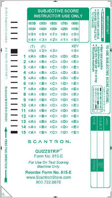 Scantron Form 815   E