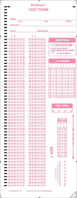 Scantron Form F 289  PAR  L