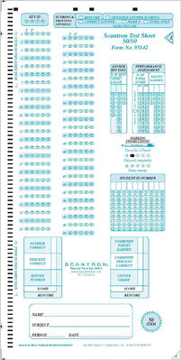 Scantron Form 95142