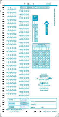 Scantron Form 19641