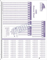Scantron Custom Form 236344