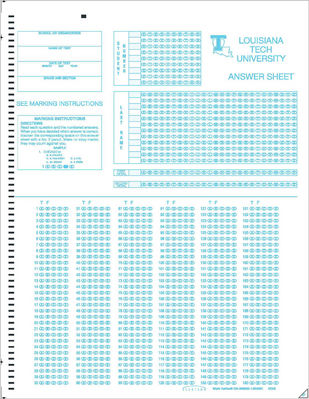 Scantron Custom Form 286695