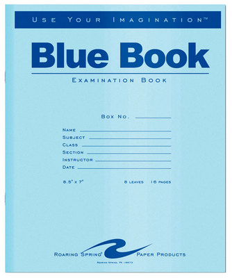 BLUE EXAM BOOK