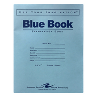 Roaring Spring Blue Exam Book, Legal Rule, 812 x 7, White, 8 Sheets