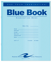 Roaring Spring Blue Exam Book 8.5x7 16pages