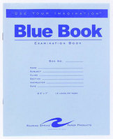 Roaring Spring Blue Exam Book, 812 x 7, White, 12 Sheets