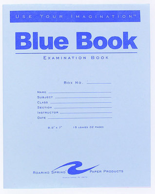 Blue Examination Book8.5X7 32 Page