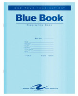 BLUE EXAM BOOK 11 x 8 12  16pg