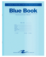 Roaring Spring Blue Exam Book 11 x 8.5 8 sheets16 pages