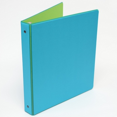 Four Point 1 inch Jewel Tint Vinyl Binder, Aqua & Peridot