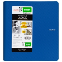 Five Star 1 12 Plastic Binder, 375 Sheet Capacity