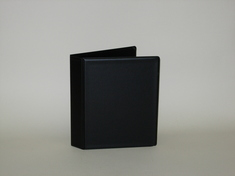 1 inch Black Mini Vinyl Binder, 5.5x8.5, Round Ring