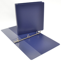 1 inch Navy Polypropylene Binder, 8.5x11, Angle D ring