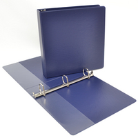 1.5 inch Navy Polypropylene Binder, 8.5x11, Angle D ring