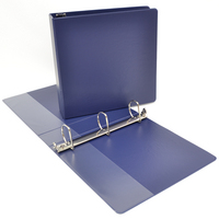 2 inch Navy Polypropylene Binder, 8.5x11, Angle D ring