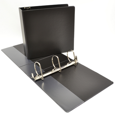 3 NONVIEW Binder, Navy Poly, Angle DRing, 11 x 8 12