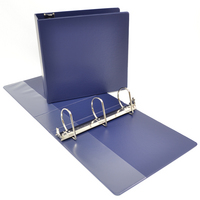 3 inch Navy Polypropylene Binder, 8.5x11, Angle D ring
