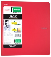 Five Star 1 Plastic Binder, 225 Sheet Capacity, Assorted Colors, 11 34 x 11