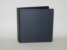 112 NONVIEW Binder, Black Poly, Angle DRing, 11 x 8 12