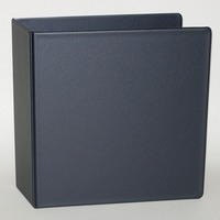 3 NONVIEW Binder, Black Poly, Angle DRing, 11 x 8 12