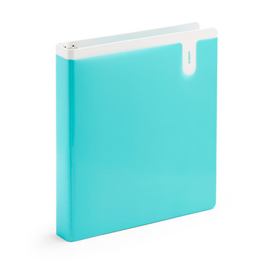 Poppin Aqua 1 Pocket Binder