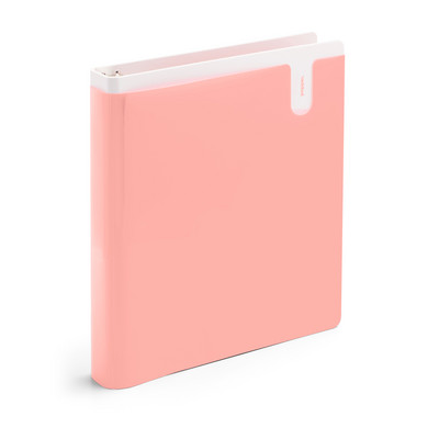 Poppin Blush 1 Pocket Binder